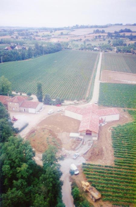 Construction du chai du Domaine En Ségur