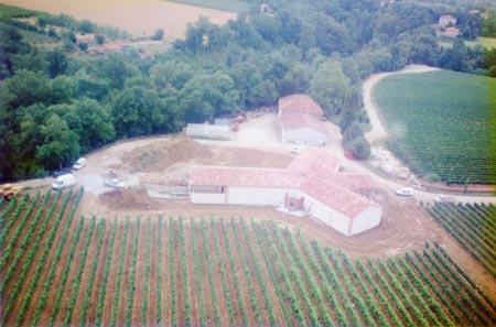 travaux du Chai au domaine viticole